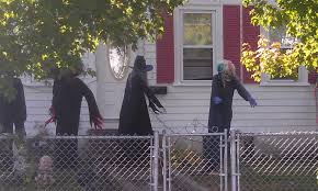 homemade scary halloween decorations outside outdoor awesome