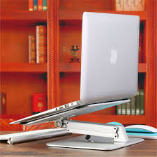 Laptop Cooling Desk Adjustable Notebook Stand Height Angle Adjust Aluminum Alloy