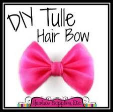 tulle hair bows tutorials