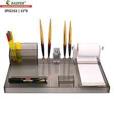 rasper multipurpose acrylic desk organiser pen stand for