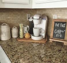 kitchen countertop decorating ideas coffee station decor kitchen counter decor ideas image gallery image