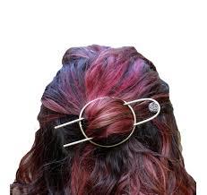 bun holder hair wear handmade brass and druzy bun holder pfeffer