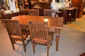 Mission Oak Dining Chairs Arts And Crafts Mission Oak Dining Table With 4 Chairs