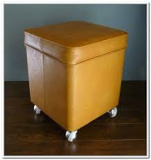 Yellow Storage Ottoman Orange Storage Ottoman Stylish And Functional Storage Idea
