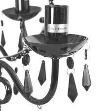 Black Chandelier Lighting by Brindisi Black 3 Arm Chandelier Ceiling Light Fitting Lighting