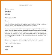 Sample Resume For Job by Introduction Cover Letter For Job Application Idr Group