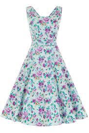 duck egg floral charlotte dress lady vintage