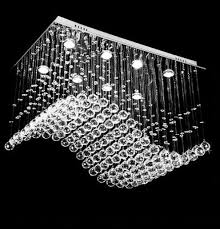Crystal Chandelier For Dining Room by Modern Contemporary Wave Crystal Chandelier Pendant Montreal