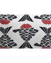 Zebra Print Outdoor Rug Bargains On E By Design Ran427pu5bl16 23