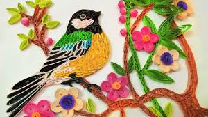 paper quilling birds tutorial paper art quilling wall decorations quilling bird sitting on tree