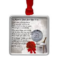 25th wedding anniversary christmas ornament poem ornaments keepsake ornaments zazzle