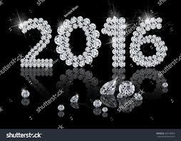 new year jewelry brilliant new year 2016 diamond jewelry stock illustration