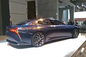 lexus lf fc fuel cell lexus lf fc flagship coupe concept at tokyo motor show pictures