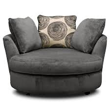 Oversized Swivel Chairs For Living Room Design Ideas Furniture Gray Oversized Round Chair With Throw Pillows For