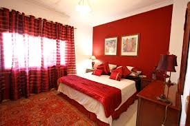 color combination in bed room with red modern red nuance interior