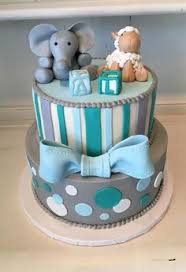 baby shower cakes for boy blue elephant baby shower banner for cake decorations by modparty