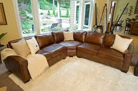 Top Grain Leather Sectional Sofas Elements Carlyle Top Grain Rustic Leather Sectional Sofas