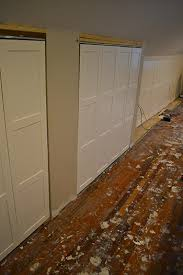 Wall To Wall Closet Doors Board And Batten On Closet Doorslemon Grove Lemon Grove