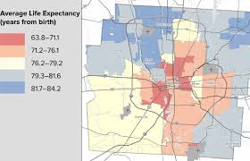 Map Of Ohio State University by Life Expectancy Varies In Franklin County Mix 107 9