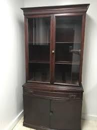 dark wood china cabinet antique china cabinet dark wood glass doors decorative moulding