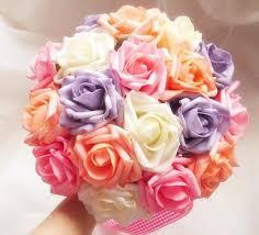 multicolor roses herself exquisite multi color shape bridal wedding