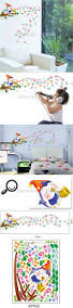 music note home decor saturday monopoly diy wall stickers home decor birds sing cartoon