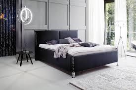 schlafzimmer swarovski meise polsterbett in stoff schwarz 180x200 cm mit