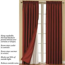 Eclipse Grommet Blackout Curtains Home Decoration Cheap Blackout Curtain Liner For Tall Window