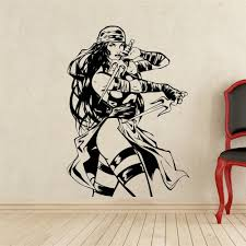 popular comic wall buy cheap comic wall lots from china comic wall elektra wall decal superhero vinyl sticker home art dc marvel comics wall decor mural removable wall