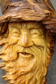 wood carving wizard tree spirit wood spirit gift for