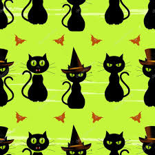 halloween design background halloween black cat seamless background u2014 stock vector