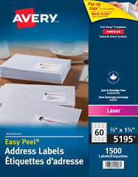 Avery Label Template 5195 by Avery皰 5195 Address Labels 2 3 X 1 3 4 Rectangle White
