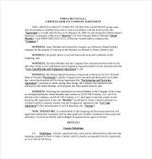 11 operating agreement templates u2013 free sample example format