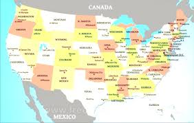 America Map With States by America Map With States Roundtripticket Me