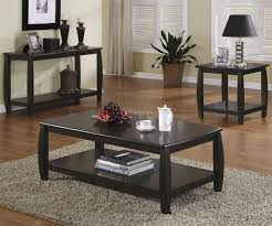 cappuccino finish modern coffee table w shelf u0026 options