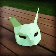 rabbit mask halloween rabbit half mask animal head paper mask diy easter mask easter