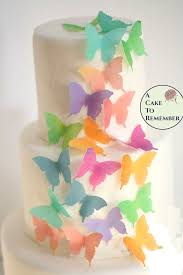 butterfly cake toppers edible butterflies 24 watercolor wafer paper butterflies for