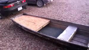 jon boat floor plans 10 ft jon boat front deck modification youtube