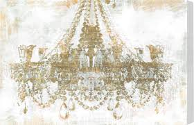 chandelier diamonds gold diamonds faded chandelier graphic print on wrapped