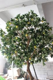 wholesale artificial lemon trees for home decorartion fruit tree