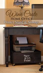 wine crate home office printer stand u0026 storage office printers