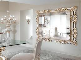 Mirror In Living Room Interior Decorative Gold Mirrors In Awesome Home Decoration