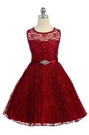 flower girl dresses burgundy lace pleated flower girl dresses