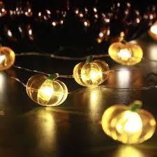 pumpkin string lights 10 ft 40 leds battery powered for indoor