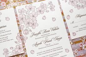 cherry blossom wedding invitations seasonal stationery cherry blossoms
