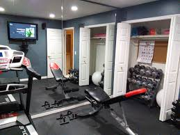 make your home gym work in a small room movable bench foldable