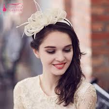 bridal headwear light chagne bridal hat fashion boda wedding accessories