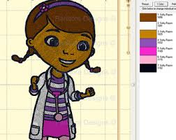 doc mcstuffins embroidery design etsy