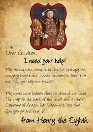 dreaming of the country henry viii treasure hunt with printable