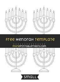 small menorah menorah template small